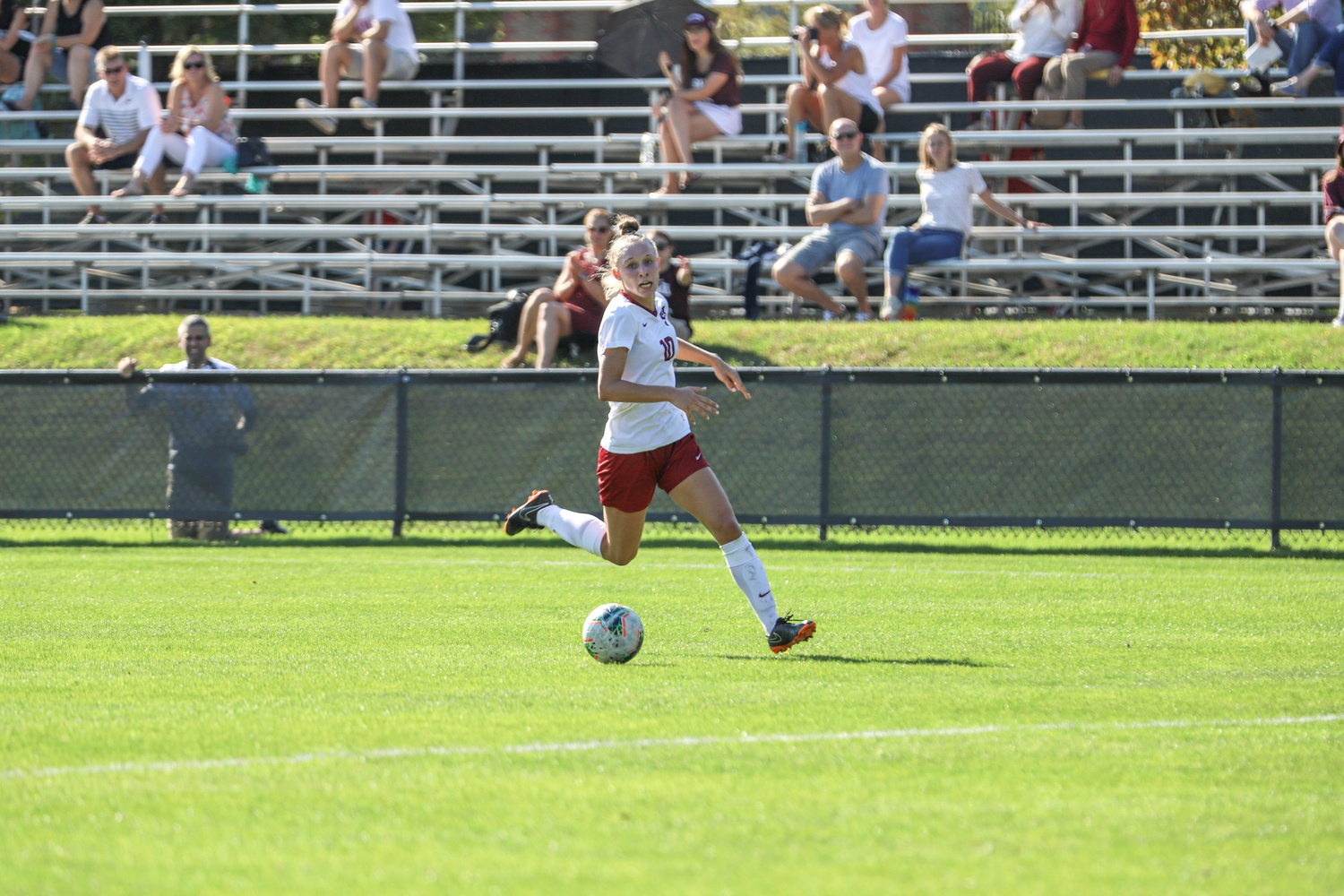 Angela Caloia, Friday's goal-scorer, will look to build off a first-year campaign that saw her find the score sheet 17 times in 16 games (six goals and 11 assists).