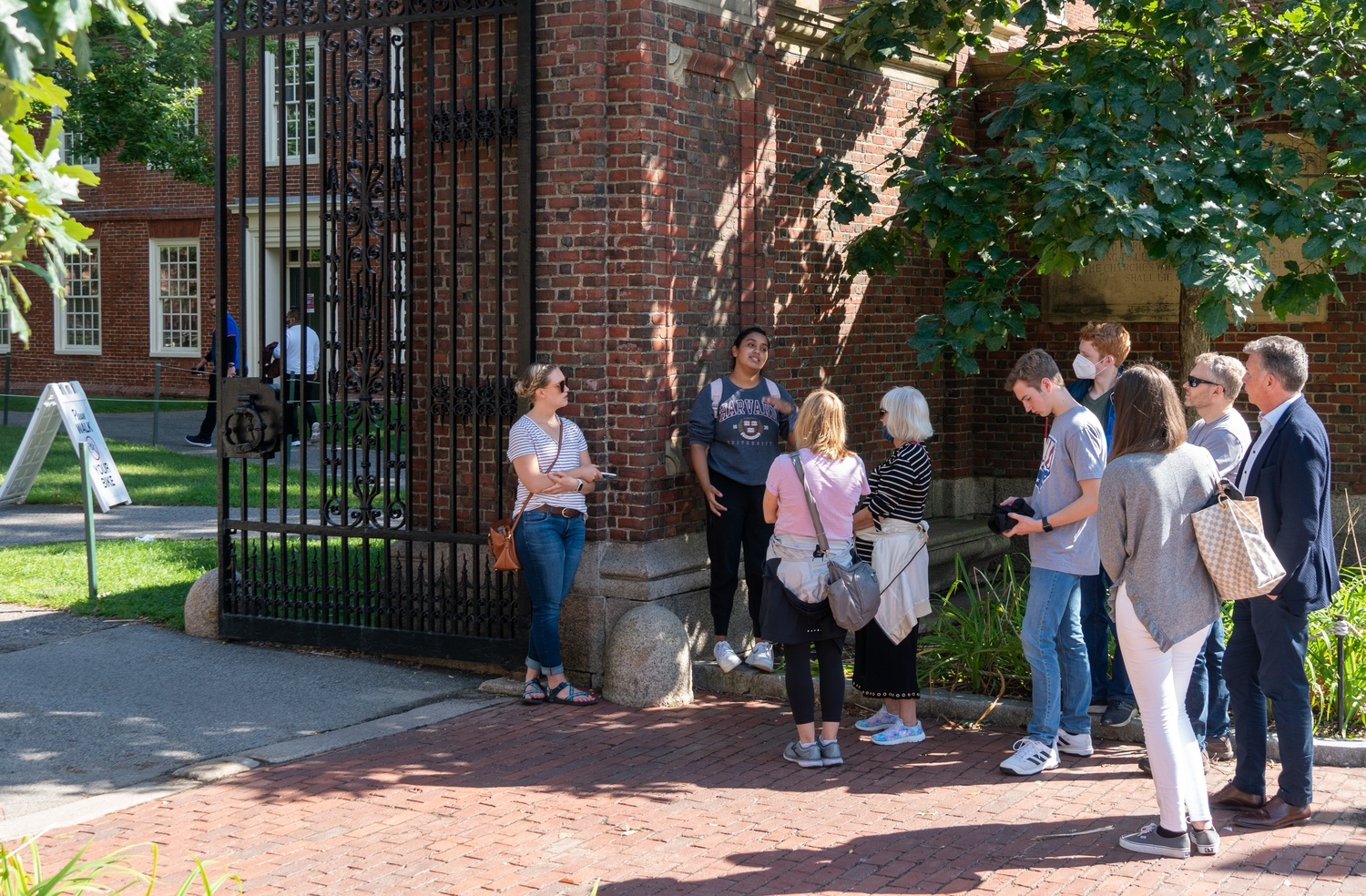 Even as Harvard's campus has returned to life this fall, Harvard tour groups continue to operate under coronavirus restrictions and away from Harvard Yard.