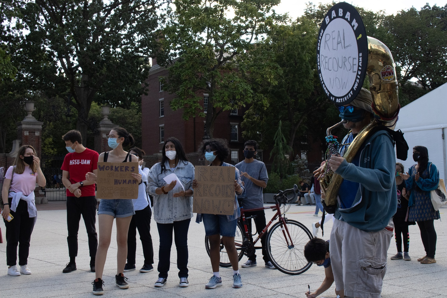 Harvard Graduate Students Union-United Automobile Workers representatives argued for the importance of having an independent arbitration option for victims of sexual harassment and assault.