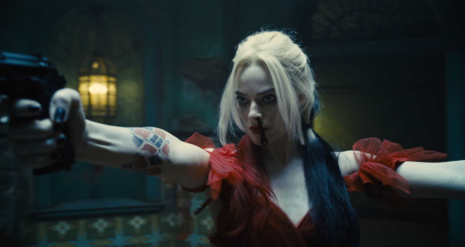 """Margot Robbie stars as Harley Quinn in """"The Suicide Squad"""" (2021), directed by James Gunn."""