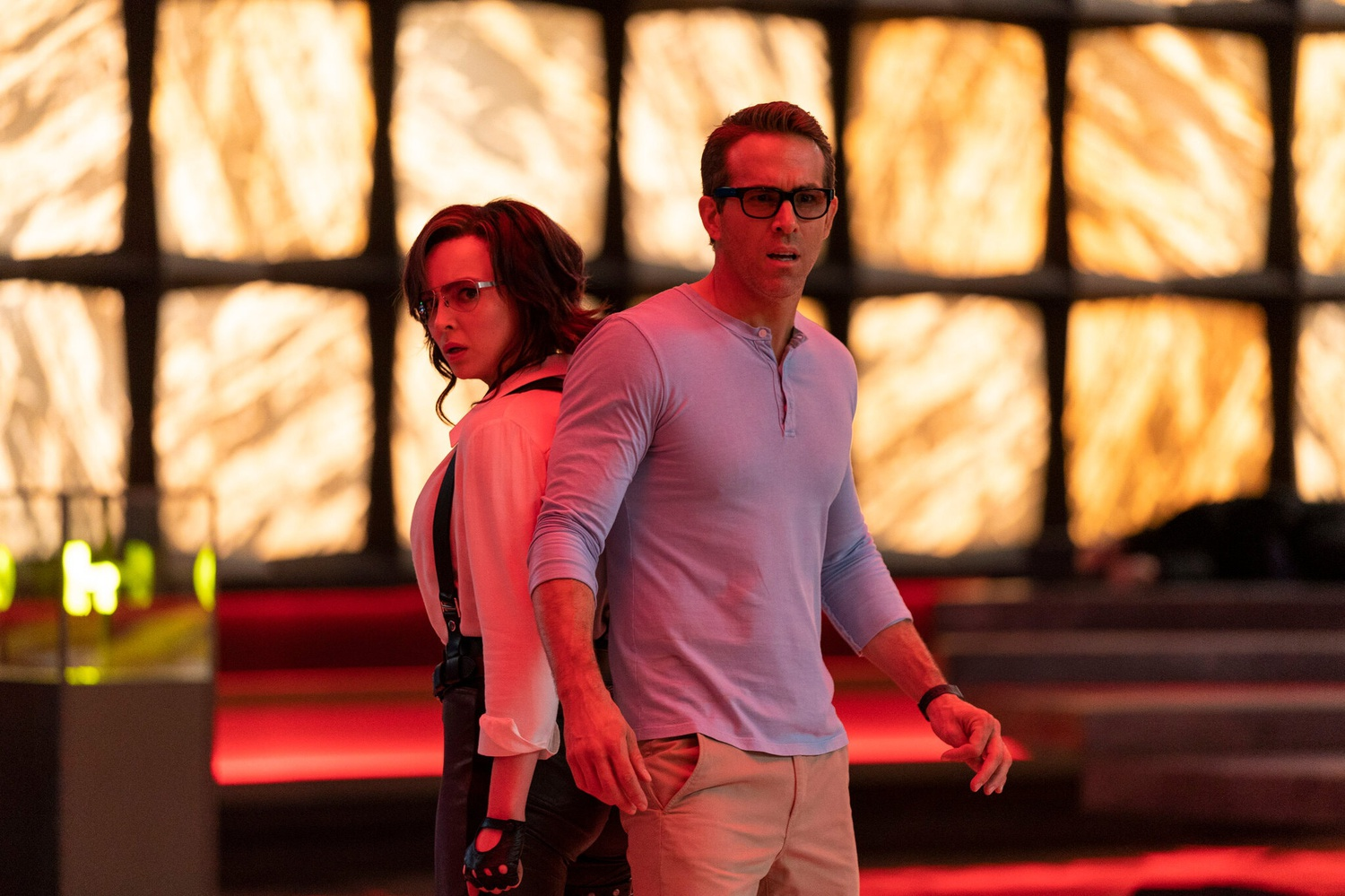 """Jodie Comer and Ryan Reynolds star in """"Free Guy."""""""