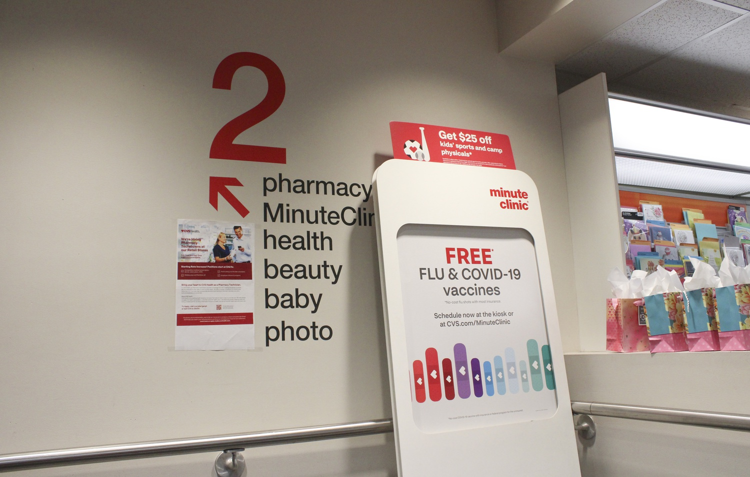 The CVS in Harvard Square is administering free flu and Covid-19 vaccines.