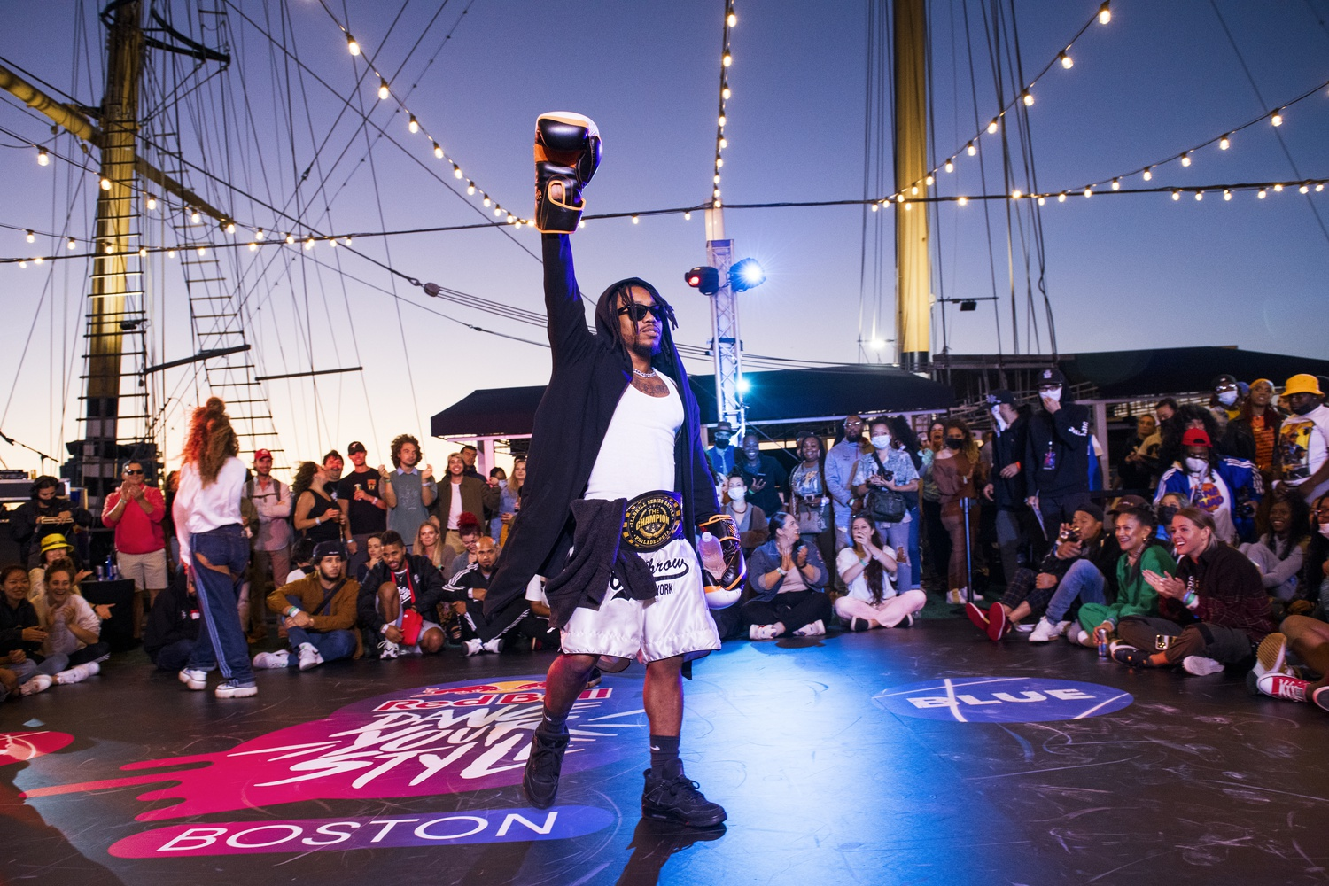 Lil-O competes at the Red Bull Dance Your Style qualifier in Boston, MA on September 10, 2021.