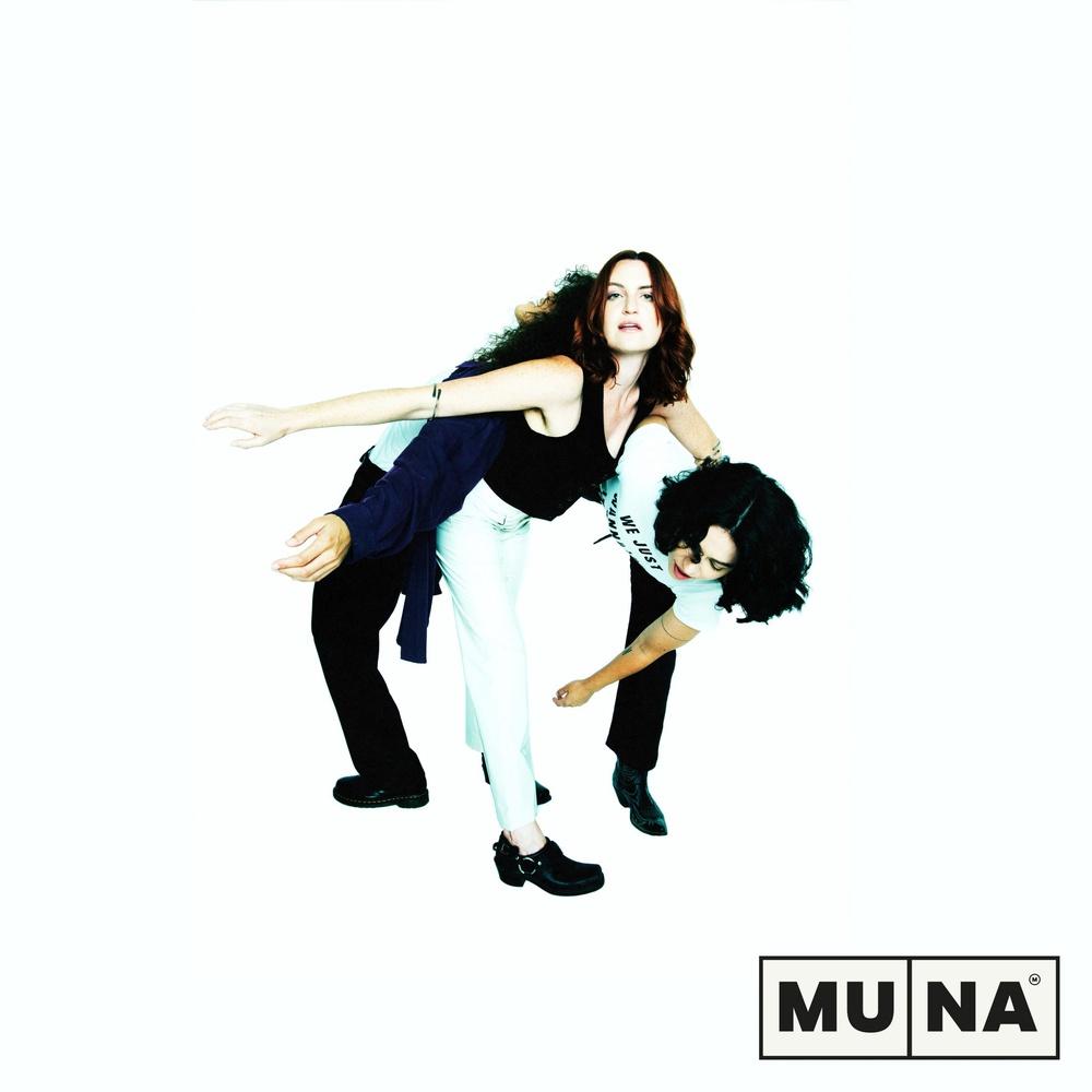 "Single cover for MUNA and Phoebe Bridgers' ""Silk Chiffon."""