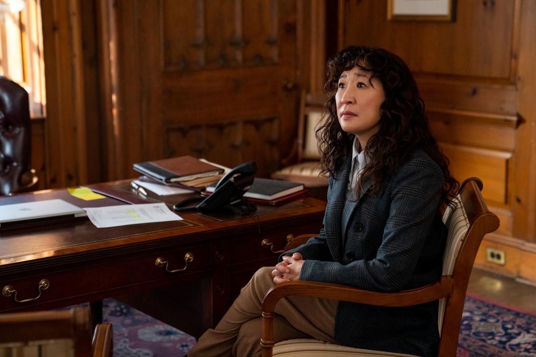 "Sandra Oh as Ji-Yoon in Netflix's ""The Chair"""