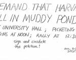 Muddy Pond Demonstration 1