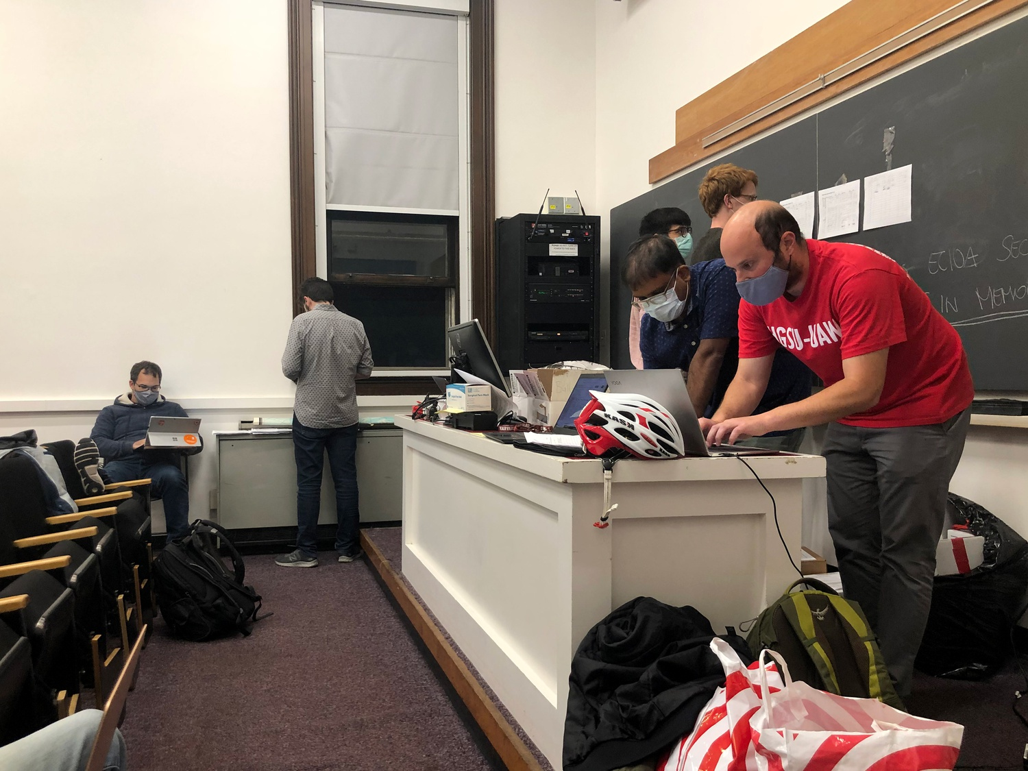 Harvard Graduate Students Union-United Automobile Workers' Elections Committee members counted paper ballots for the union's strike authorization vote Thursday night.