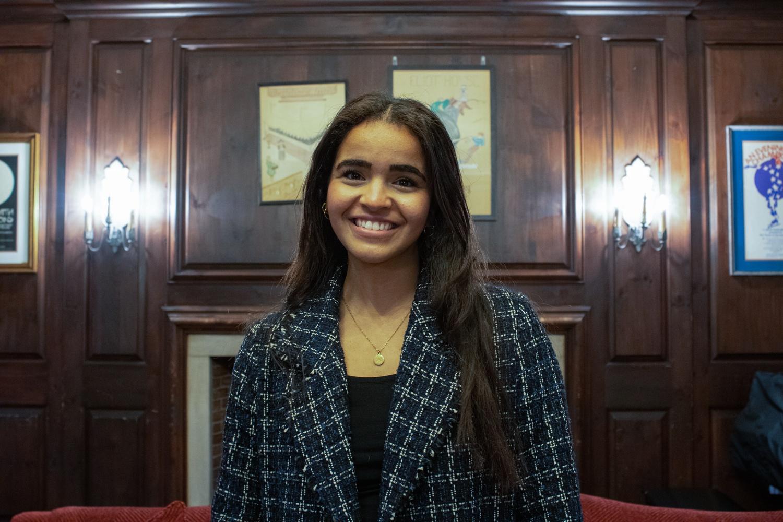 """The First Marshal for the Harvard Class of 2022, Menatallah """"Menat"""" N. Bahnasy '22."""