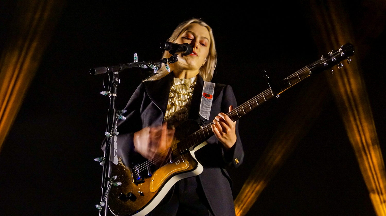 Phoebe Bridgers at her Sept. 27 show at the Leader Bank Pavilion in Boston.