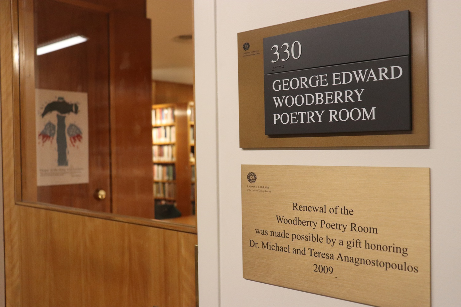 The Woodberry Poetry Room is on the third floor of Lamont Library.