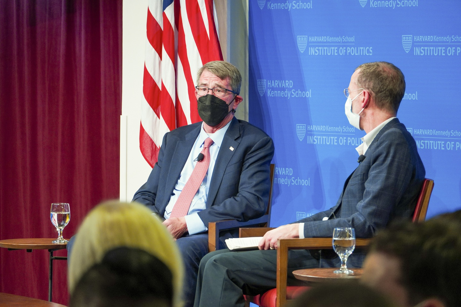Harvard Kennedy School Dean Douglas W. Elmendorf hosted Ash Carter — former Secretary of Defense and the director of HKS's Belfer Center — at the Harvard Institute of Politics Wednesday evening to discuss U.S-Afghanistan relations.