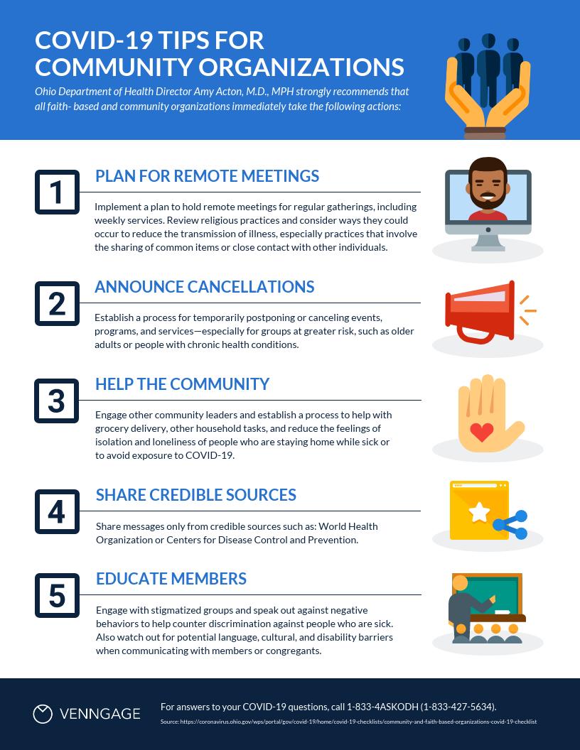 Community Organization Tips List Infographic Template