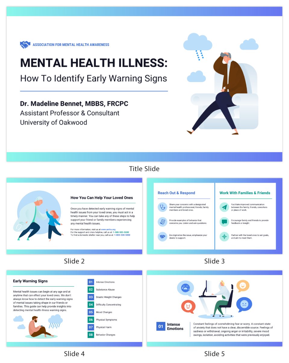 Nonprofit Mental Health Guide Presentation Template