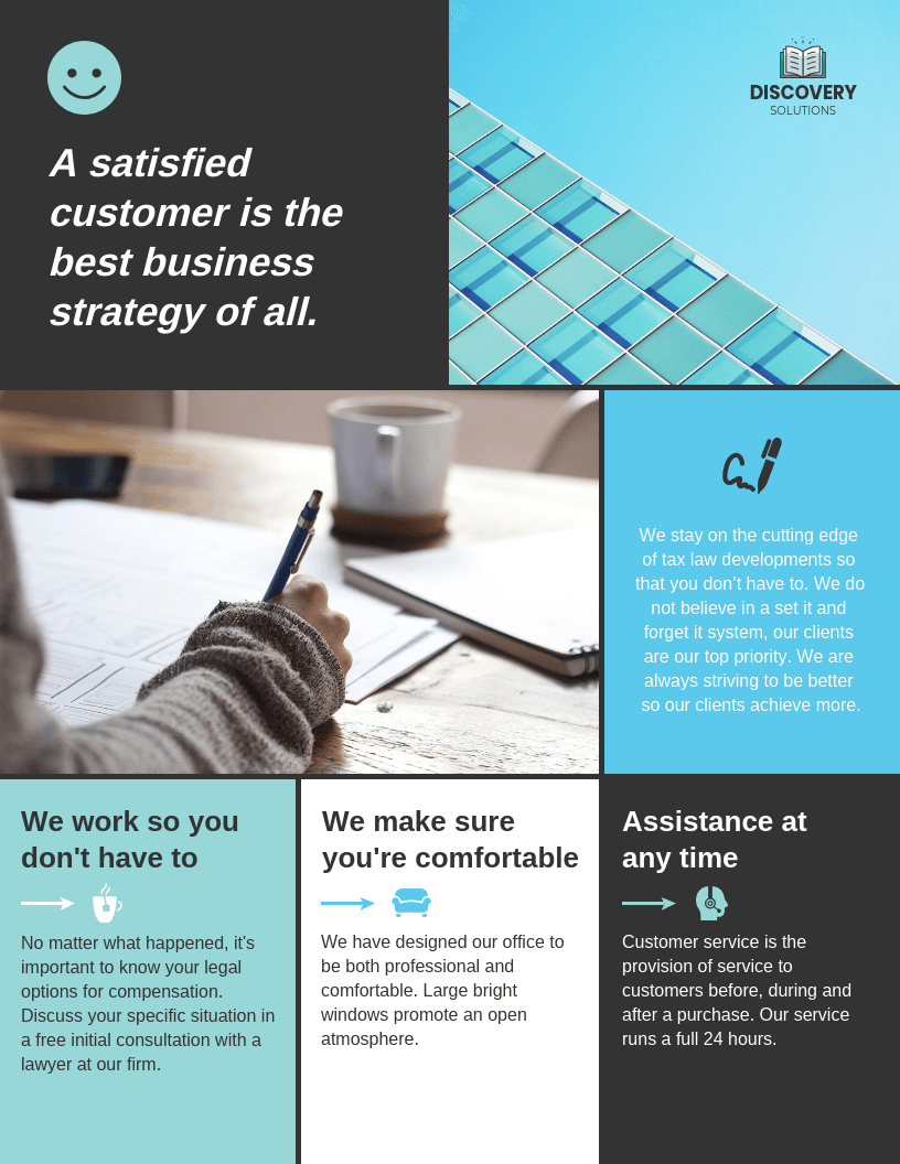 Blue Modern Sectional Business Flyer Template