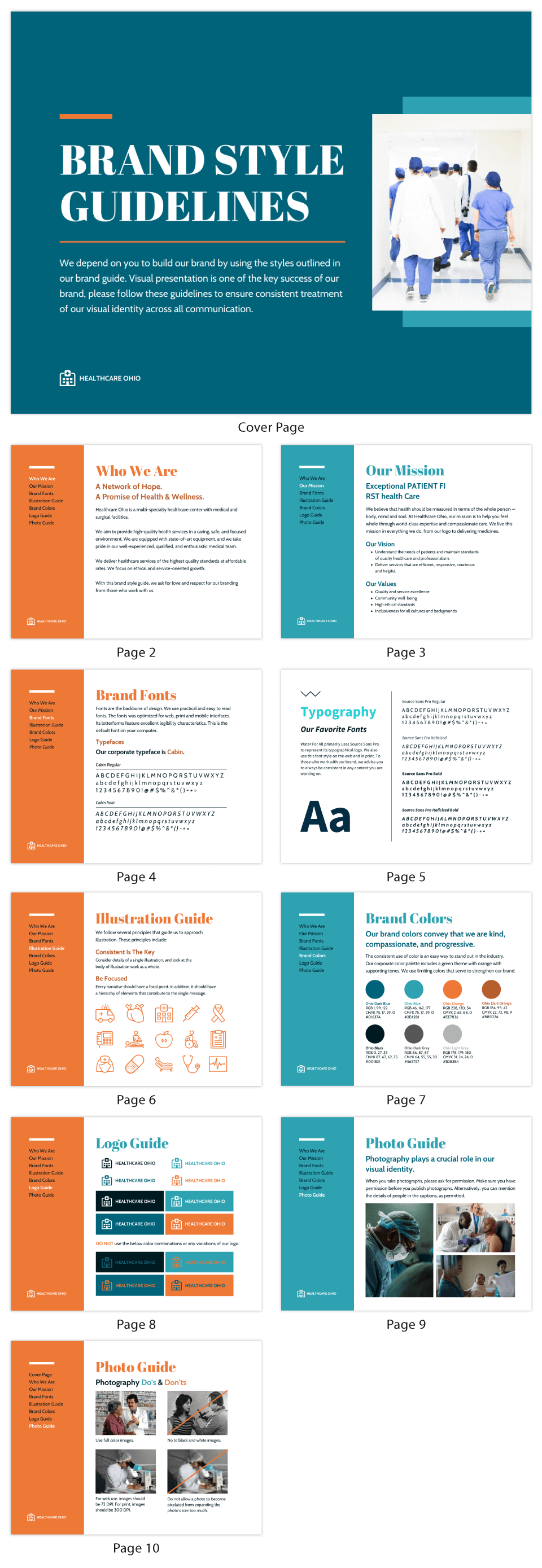Healthcare Brand Style Guide Ebook Template