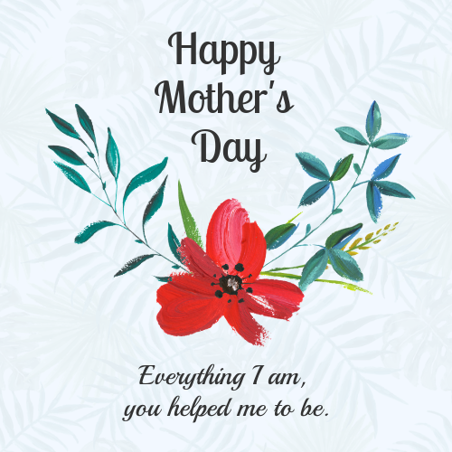 Floral Mother's Day Card Template