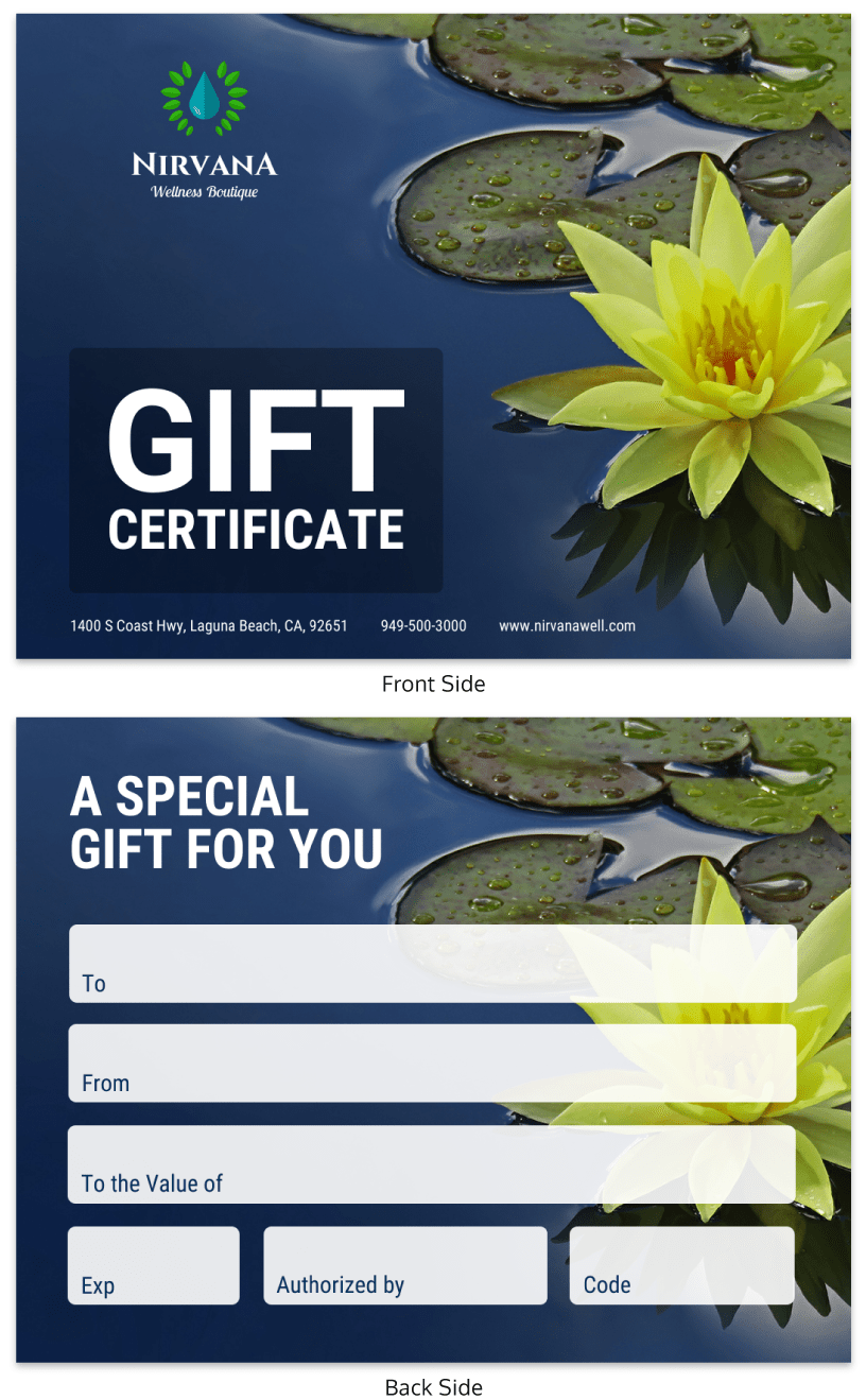 Creative Gift Certificate Template