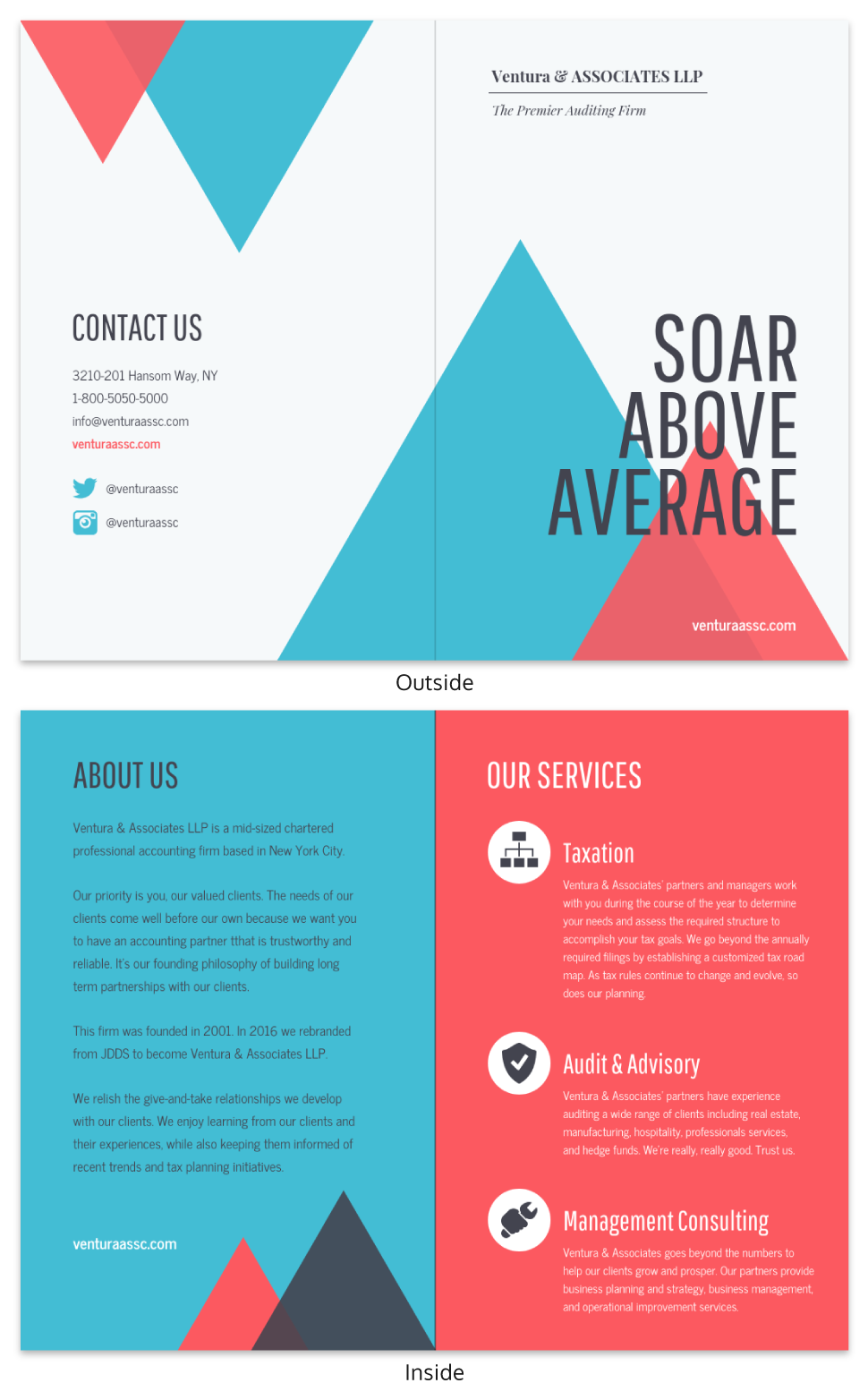 Modern Marketing Bi Fold Brochure Template
