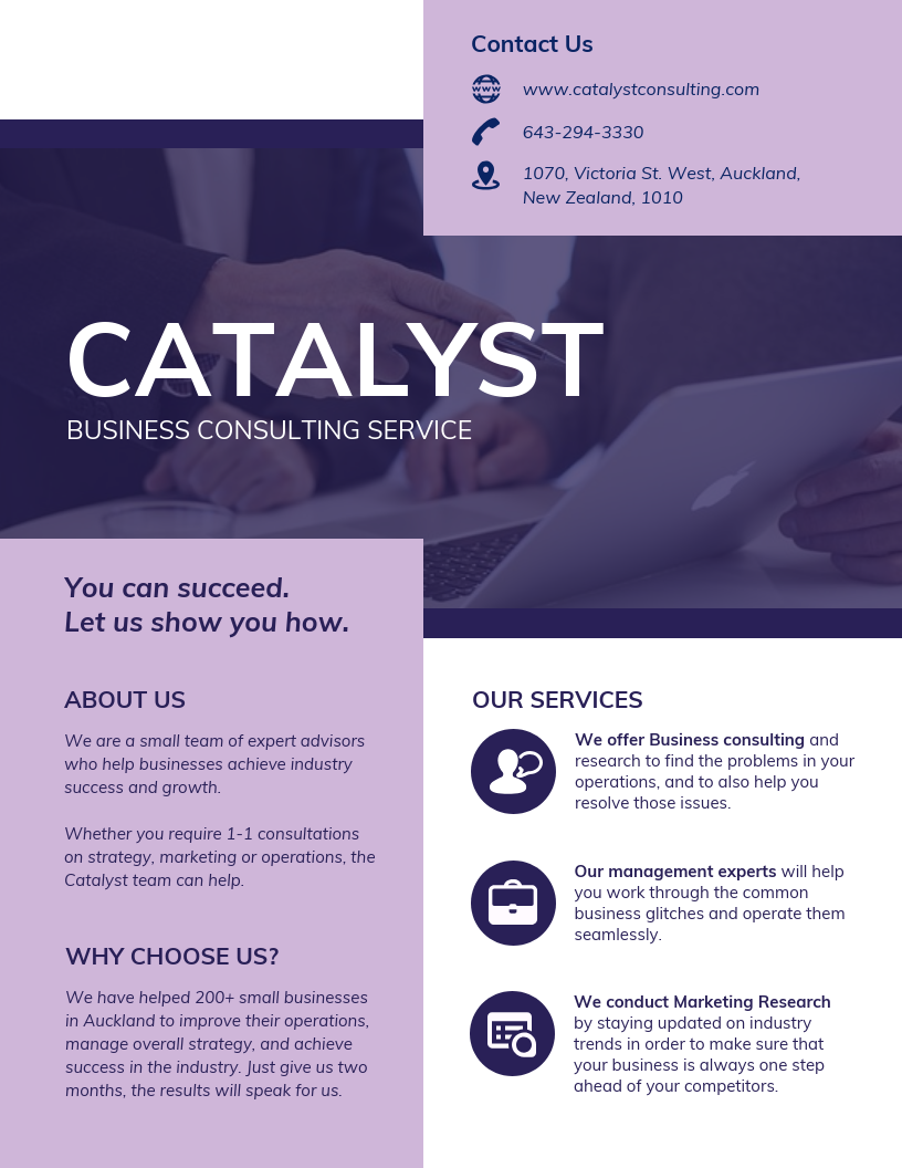 Consulting B2B Service Business Flyer Template