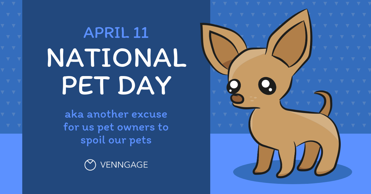 Cute National Pet Day Facebook Post Template