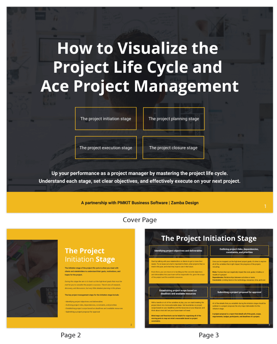 How to Visualize Project and Management eBook Template