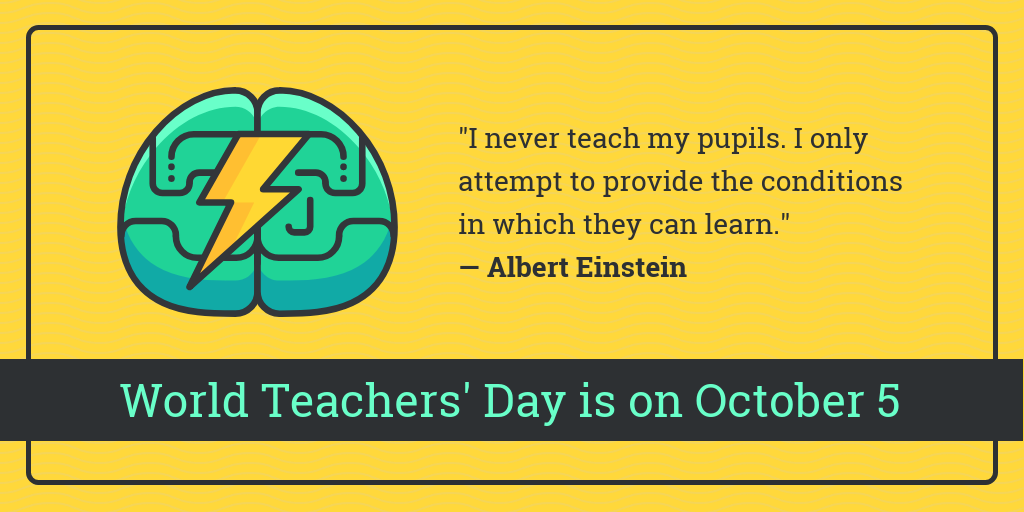Inspirational World Teachers Day Quote Twitter Post Template