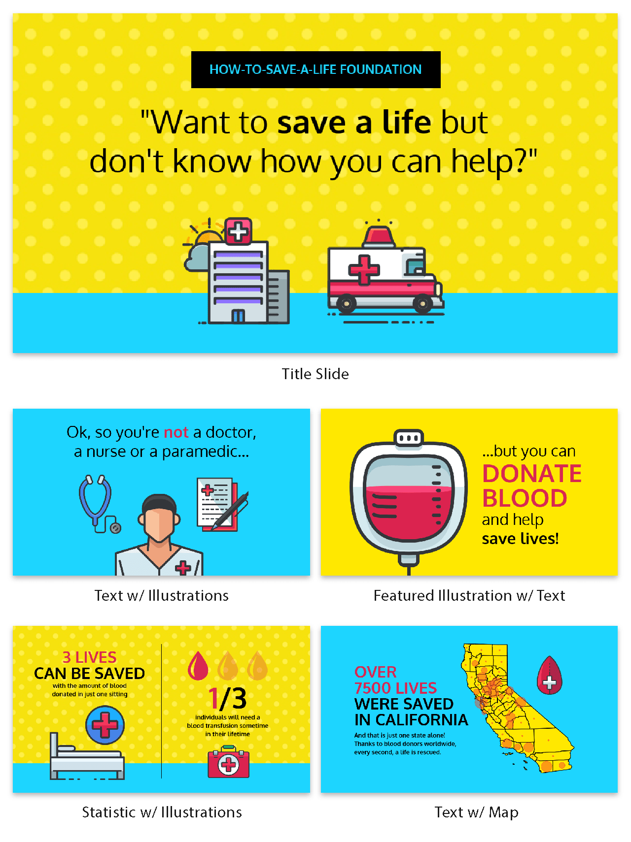 Blood Donation Creative Presentation Template