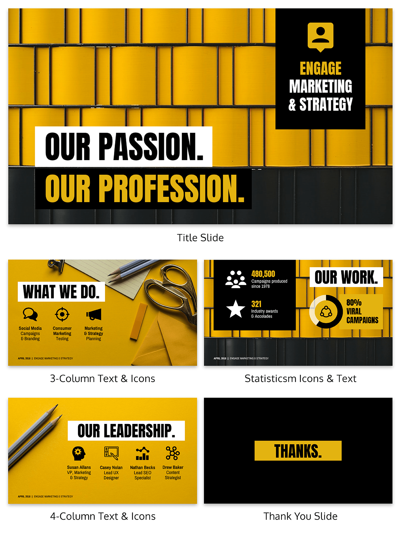 Marketing Pitch Deck Template