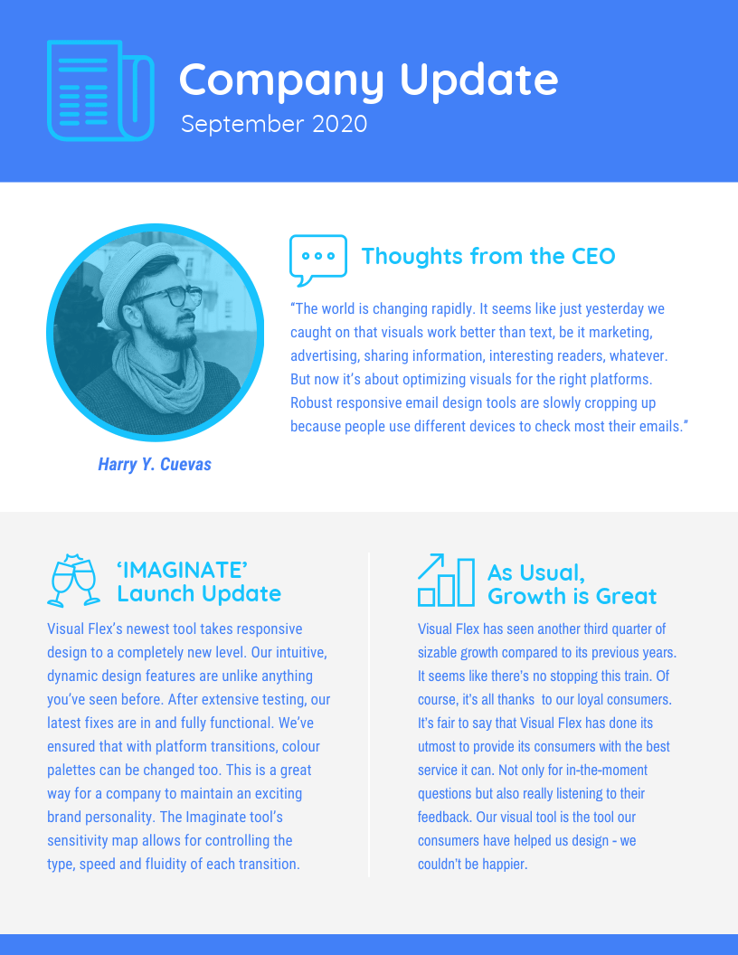 Business Update Newsletter Template