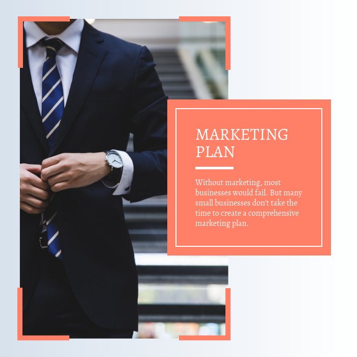 Coral Marketing Plan Instagram Post Template