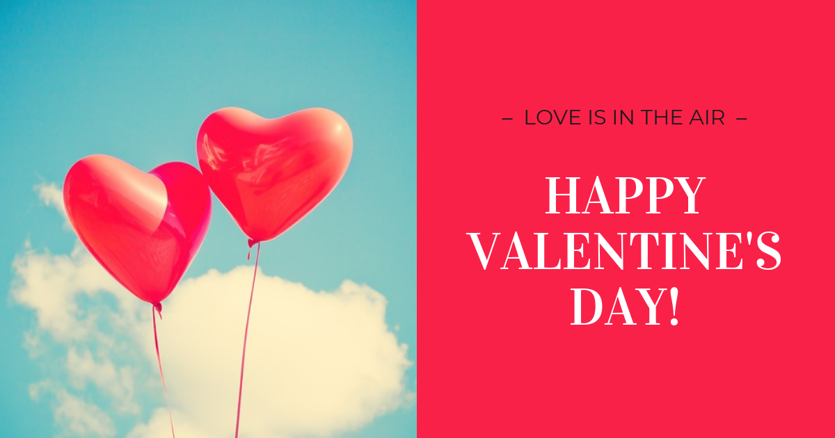 Red Valentine's Day Facebook Banner Template