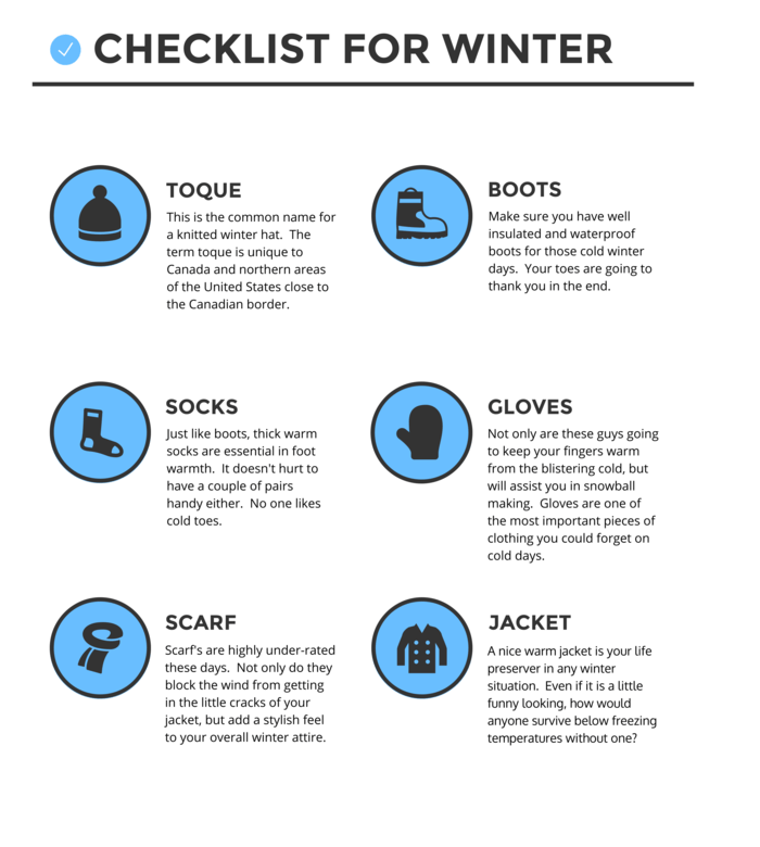 Clothing Checklist Infographic Template