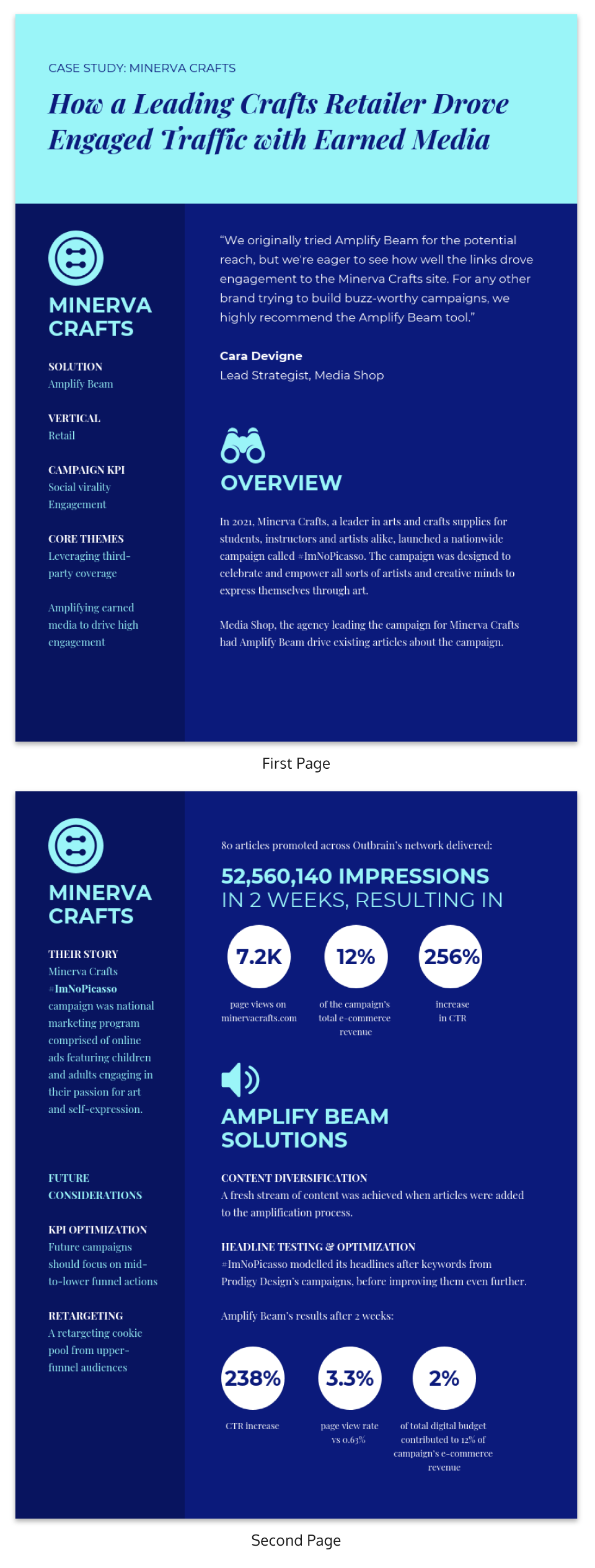 Blue Simple Business Case Study Template