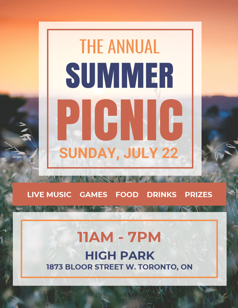 picnic event flyer template