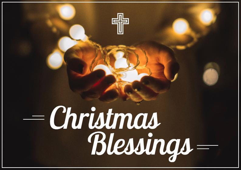 Catholic Christmas Card Template