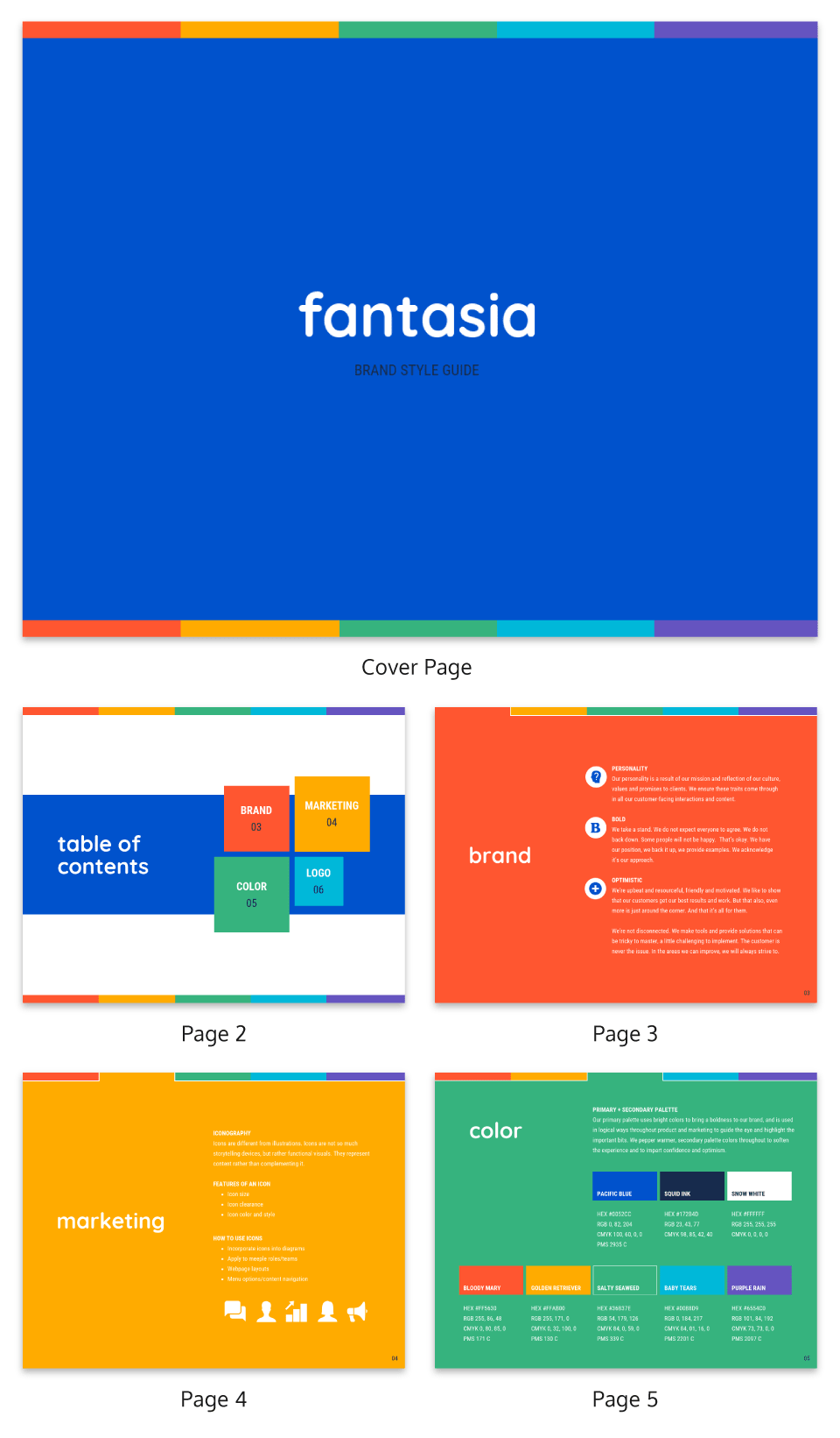 Colorful Ebook Template