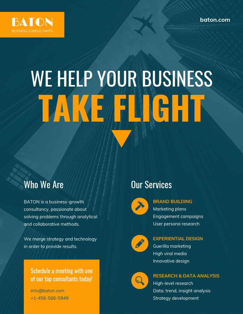 Dark Consulting Business flyer Template