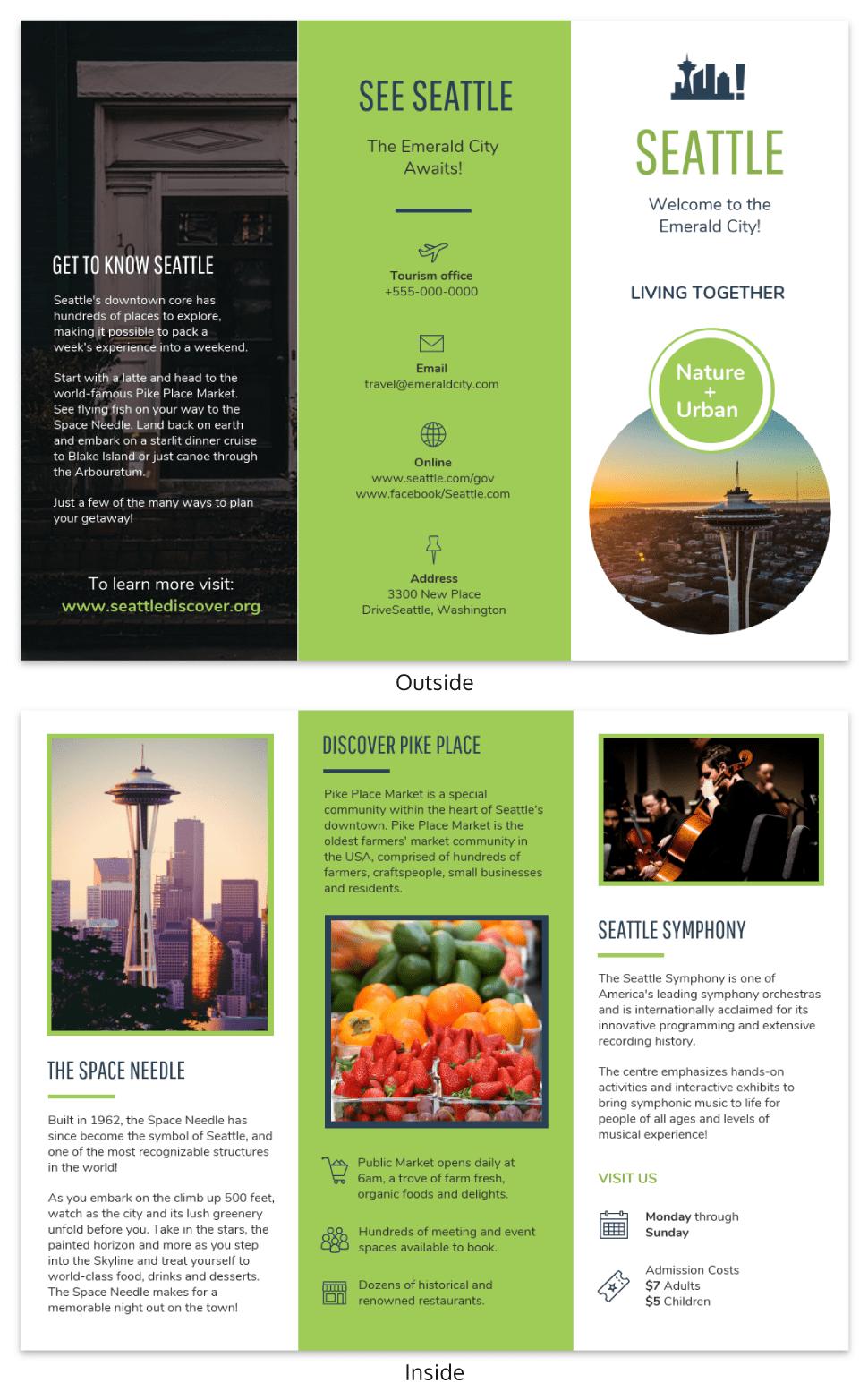 Creative Travel Brochure Template
