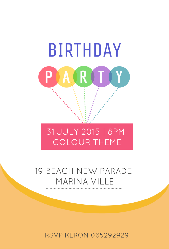 colorful birthday invitation template venngage