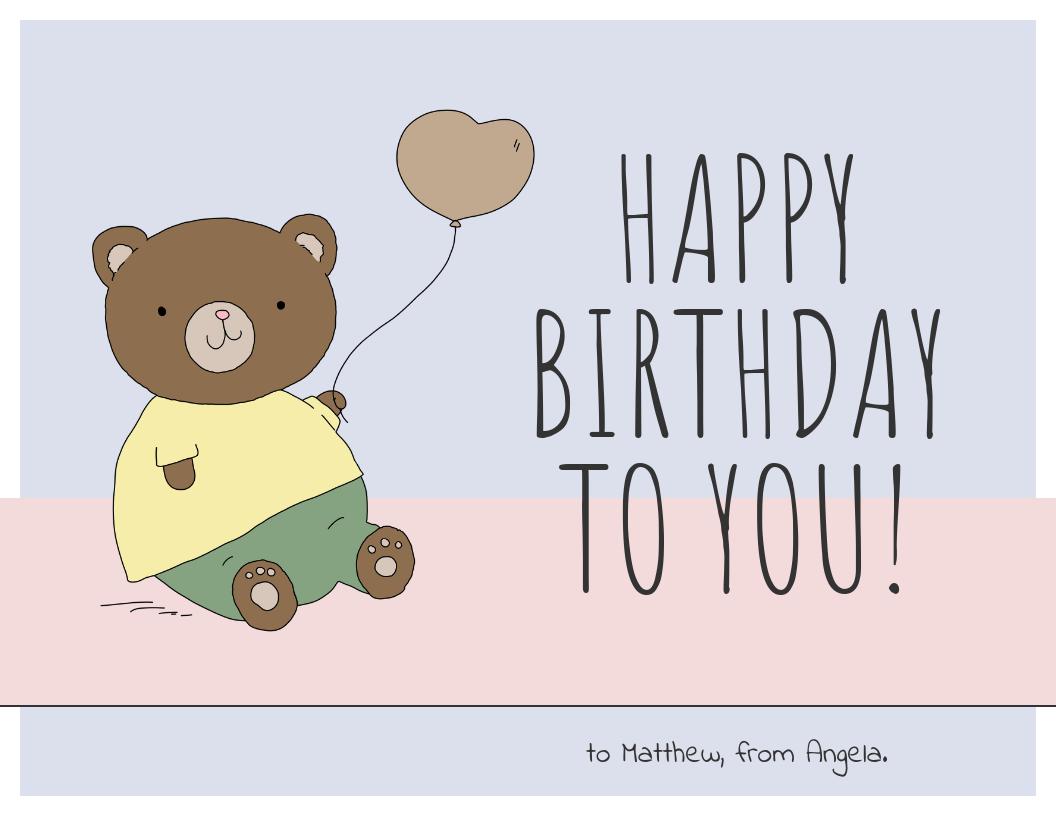 Pastel Happy Birthday Card Template