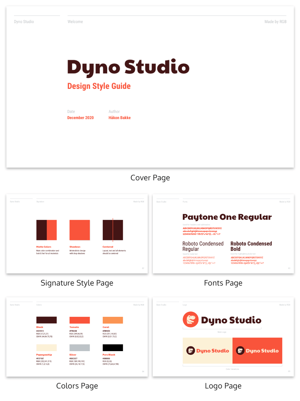 Red Design Style Guide Creative Presentation Template