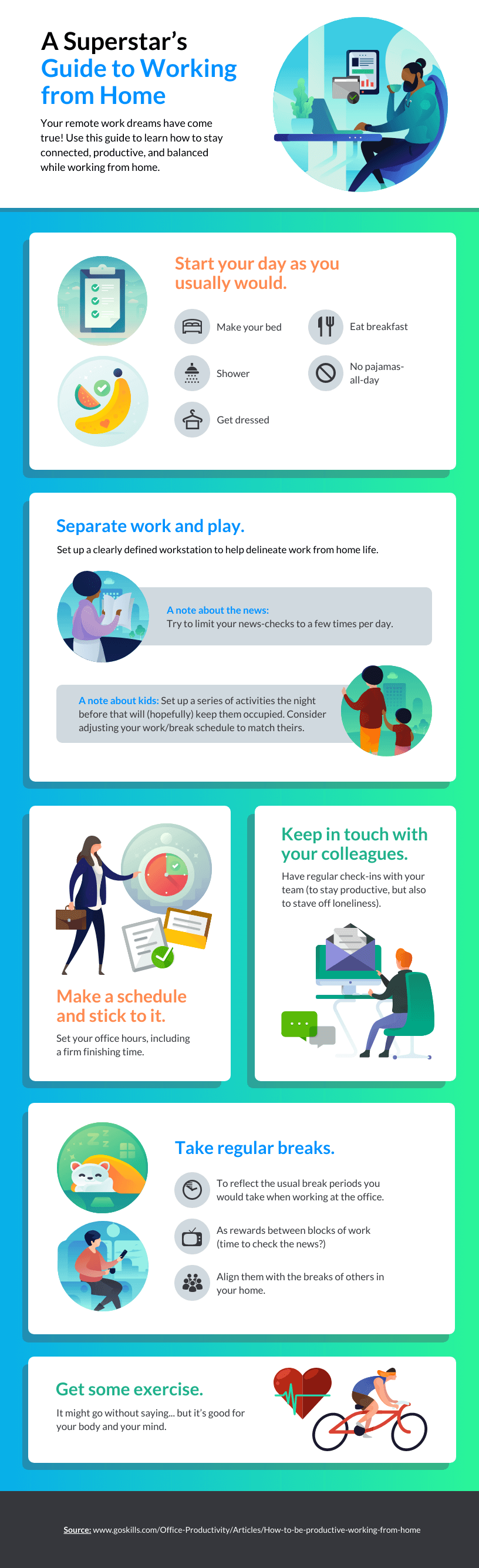 Guide to Working from Home Infographic Template