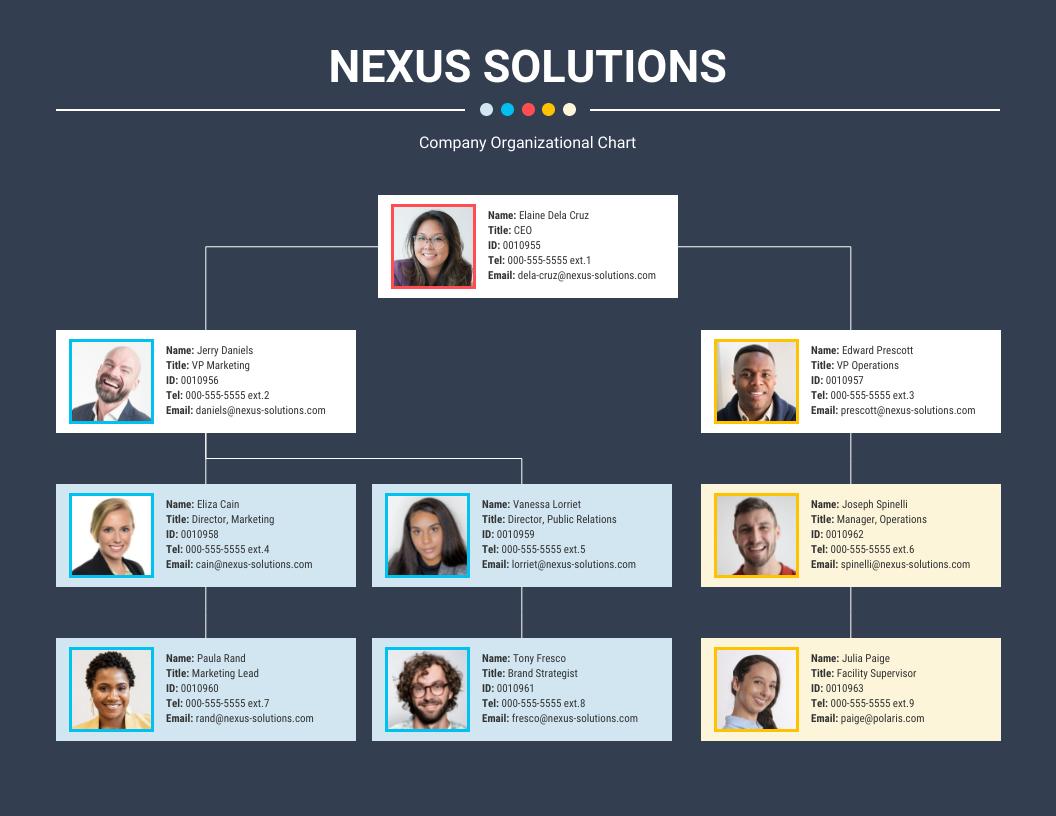 Organizational Flow Chart Template