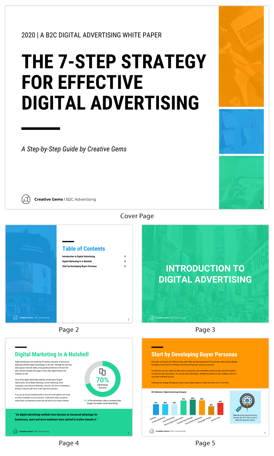 Modern Digital Marketing White Paper Template