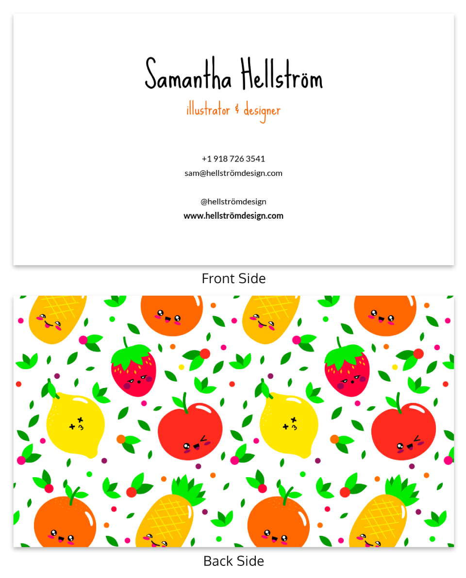 Illustrations Professional Business Card Template