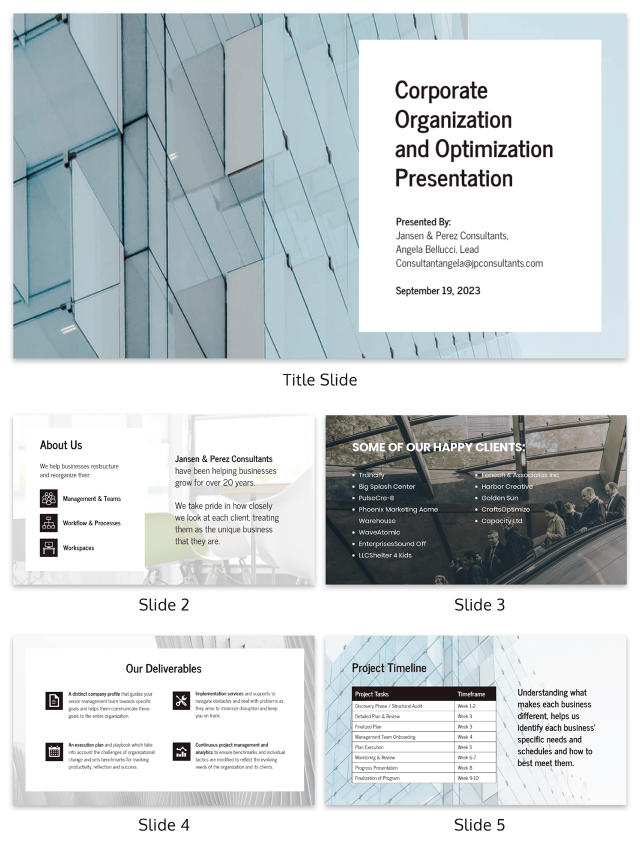 Corporate Business Consulting Presentation Template Template