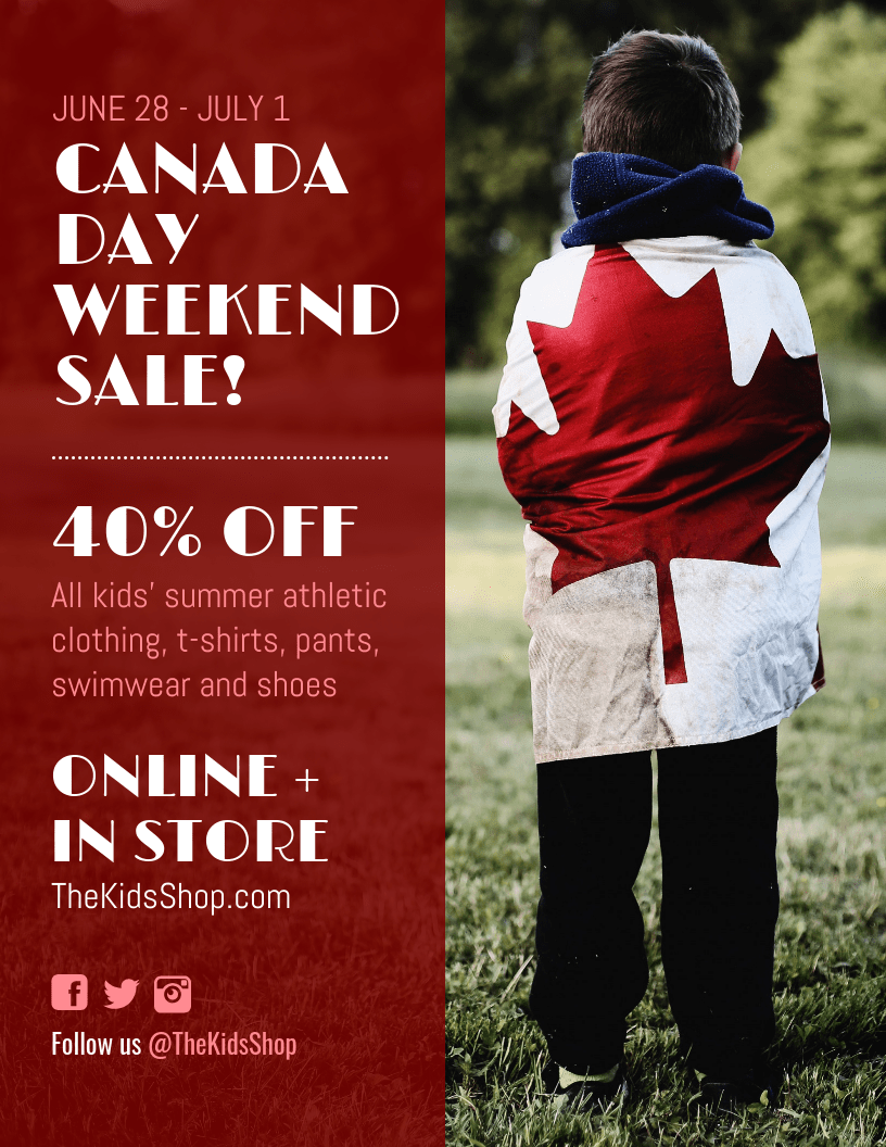 Canada Day Retail Sale Flyer Template