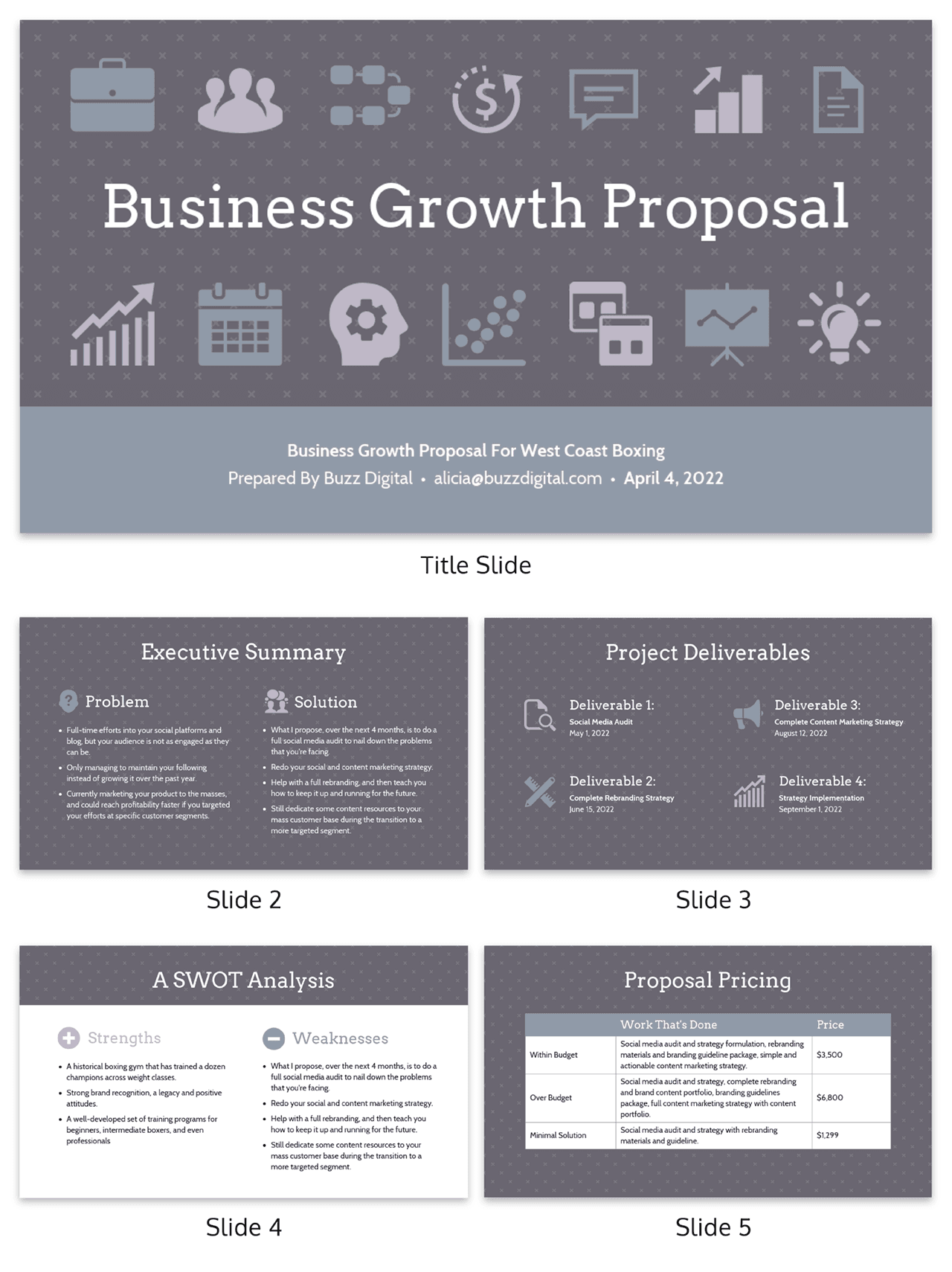 Business Growth Client Consulting Presentation Template