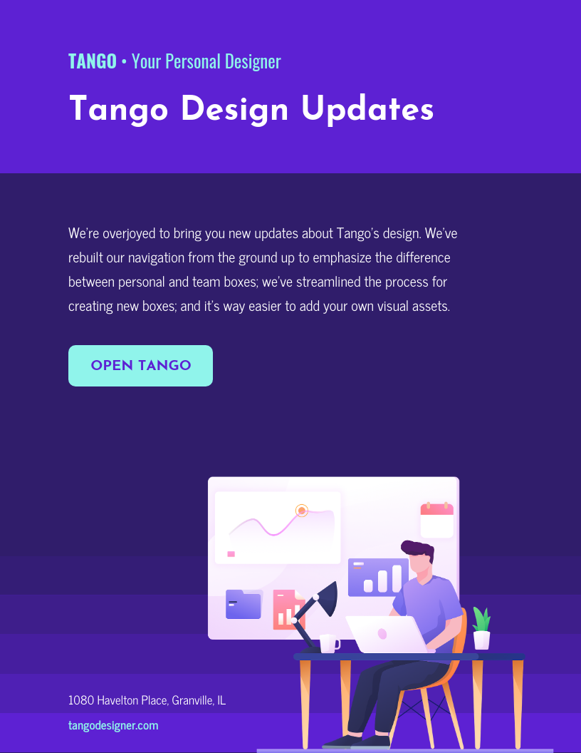 Dark Startup Email Newsletter Template Template - Venngage