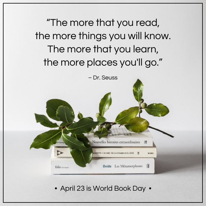 Simple Quote World Book Day Instagram Post Template